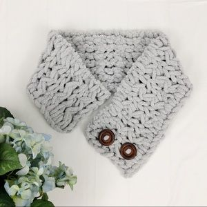 Handmade Adjustable Cowl Neck Scarf with Buttons
